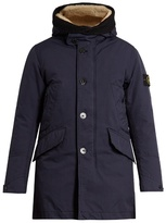 Stone Island Shearling-trim Down-padded Parka Coat