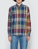 Beams Wide Check Long Sleeve Shirt