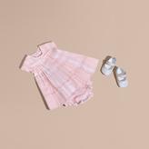 Burberry Check Cotton Pleat Dress