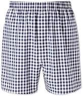 Charles Tyrwhitt Navy Gingham Woven Boxers Size Large