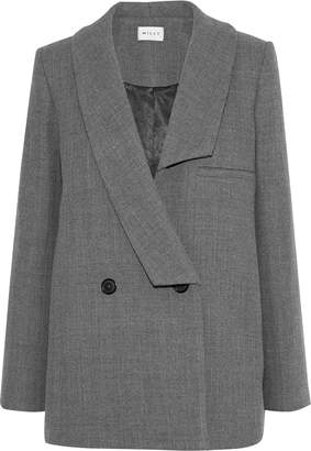 Milly Katie Double-breasted Wool-blend Twill Coat