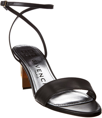 Givenchy G Heel Ankle Wrap Leather Sandal