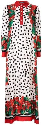 Dolce & Gabbana polka dot long dress