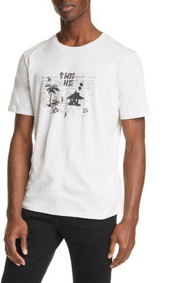 Saint Laurent Hangover Crewneck T-Shirt