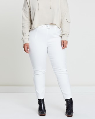 Missguided Curve Self-Belt Trousers