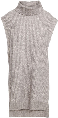 See by Chloe Melange Ribbed-knit Turtleneck Top