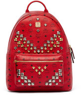 MCM Stark Men's Stud Medium Backpack, Ruby Red