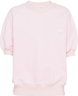 Prada Knitted Short-Sleeve Jumper