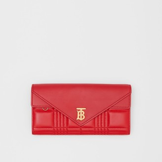 Burberry Monogram Motif Quilted Continental Wallet
