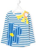 Stella McCartney striped floral T-shirt - kids - Cotton - 4 yrs