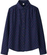 Uniqlo Girls Flannel Printed Long Sleeve Shirt