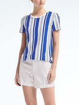 Banana Republic Stripe Signature Supima® Cotton Crew