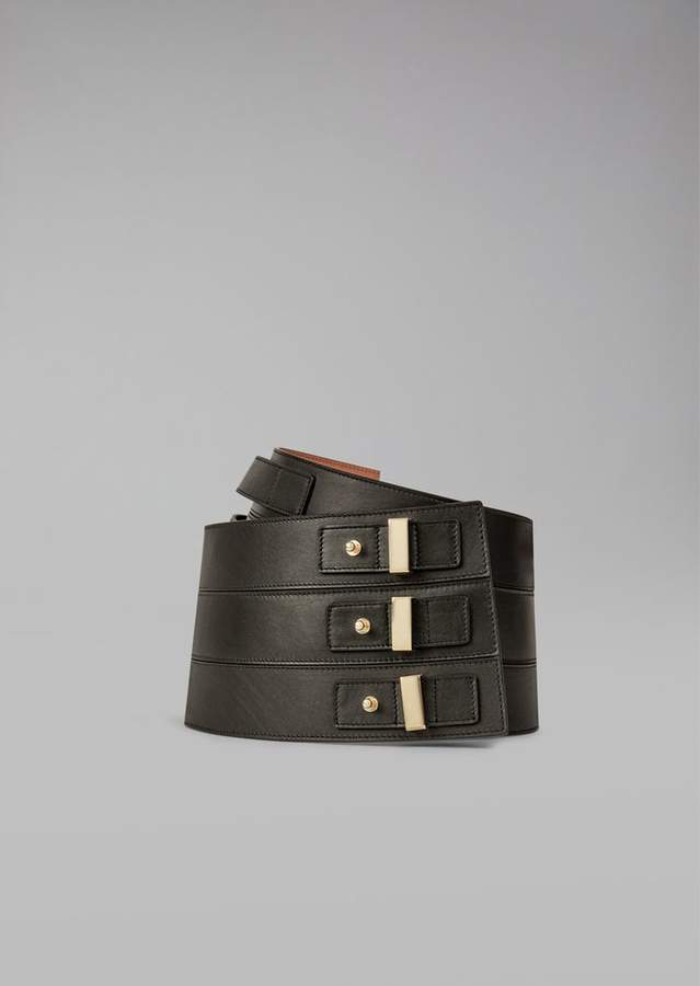 Giorgio Armani Wide Belt With Buckle
