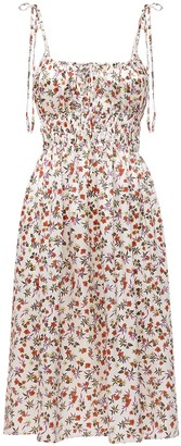 Ciao Lucia Evalina Print Silk Midi Dress