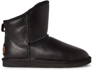 Australia Luxe Collective Black X Cosy Short Shearling-Lined Leather Boots