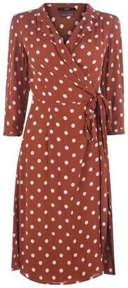 SET Spot Print Dress Ld93