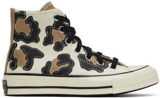 Converse Off-White Hacked Archive Leopard Chuck 70 High Sneakers