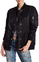 BLANKNYC Denim Nylon Bomber Jacket
