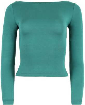 Blonde Gone Rogue Twisted Back Blouse In Green