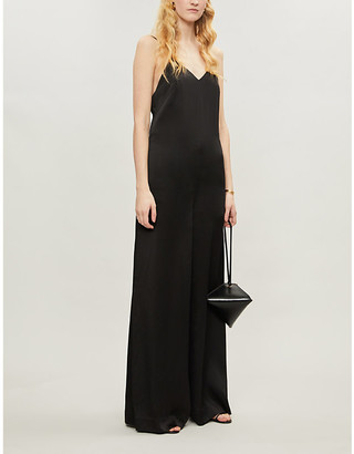 Rosetta Getty Open-back satin-crepe jumpsuit