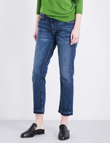 Current/Elliott The Cropped released-hem straight high-rise jeans