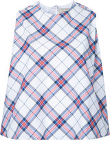 MAISON KITSUNÉ 'Holly' checked top - women - Cotton - 36