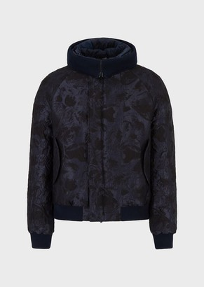 Emporio Armani Jacquard Pattern Wool Blend Fabric Jacket