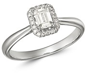 Bloomingdale's Emerald-Cut Diamond Engagement Ring in 18K White Gold - 100% Exclusive
