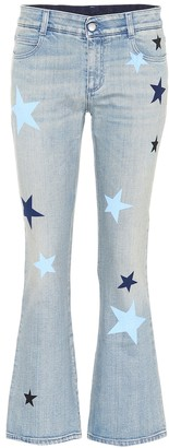 Stella McCartney Star-printed flared jeans
