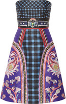 Mary Katrantzou Kelly printed satin-twill dress