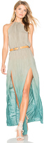 Blue Life Slit Halter Dress in Green. - size L (also in S)