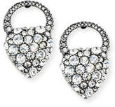 Lulu Frost Nina Crystal Heart Stud Earrings
