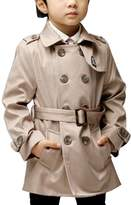 """OCHENTA Boys' Spring Middle Long Double Breasted Trench Coat Outerwear with Belt 110CM(43.3"""")"""