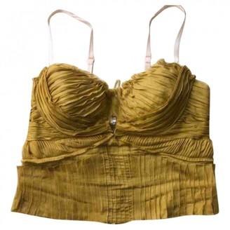 Prada Yellow Cotton Top for Women