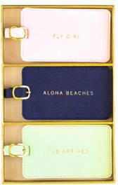 Eccolo Aloha Vegan Leather Luggage Tags, Boxed Set of 3