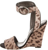 Dolce & Gabbana Ponyhair Wedge Sandals