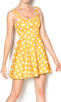 Ixia Mustard Polka Dot Dress