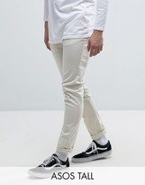 Asos Tall Skinny Chinos In Beige