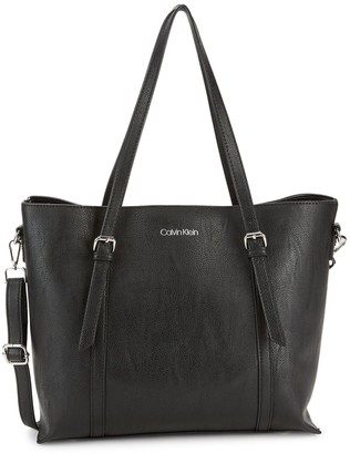 Calvin Klein Textured Logo Tote