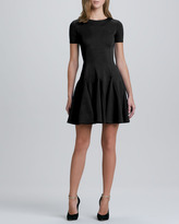 Halston Flare Skirt Ponte Dress, Black (Stylist Pick!)