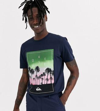 Quiksilver black palm tree t shirt