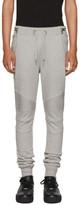 Balmain Grey Biker Zip Lounge Pants