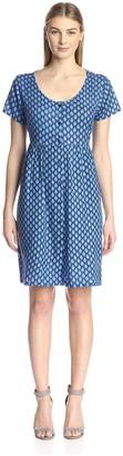 James & Erin Women's Short Sleeve Tie Back Dress