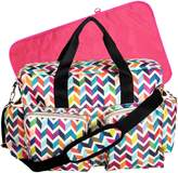 Trend Lab French Bull Ziggy Multi-Colored Deluxe Duffle Diaper Bag