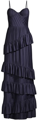 Flor Et. Al McCartney Pleated Sweetheart Gown