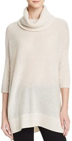 Aqua Cashmere Turtleneck Cashmere Poncho Sweater