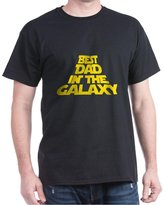 CafePress - BEST DAD IN THE GALAXY T-Shirt - 100% Cotton T-Shirt, Crew Neck, Comfortable and Soft Classic Tee with Unique Design