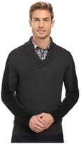 Perry Ellis Color Block Shawl Collar Pullover