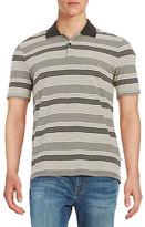 Black Brown 1826 Striped Polo Shirt