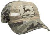 John Deere Men's Mesh Front Camo Back Cap